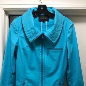 Lafayette 148 teal jacket